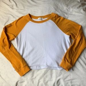 Base ball tee crop top